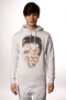 Толстовка Insight King Of Pop Hoodie White Grey